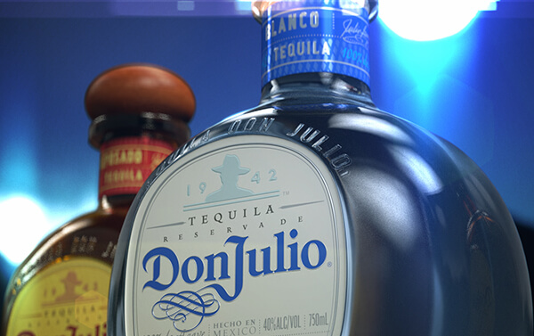 Don Julio Tequila – Blanco Detail Three Shot