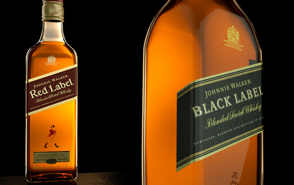 Johnnie Walker – Red and Black Bottles